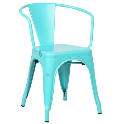Trattoria Arm Chair Color: Aqua