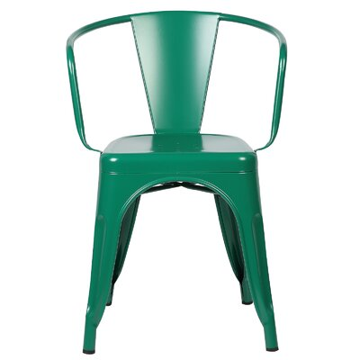 Alyssa Modern Arm Chair Color: Dark Green