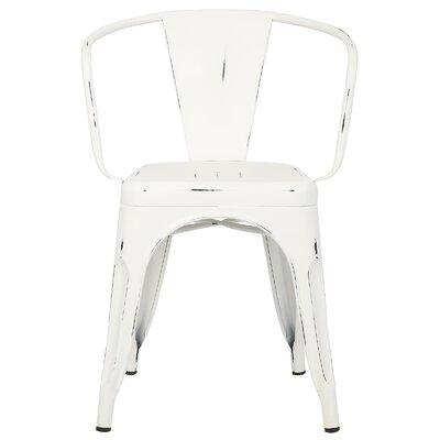 Trattoria Arm Chair Finish: Distressed White