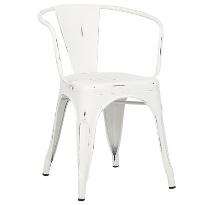 Trattoria Arm Chair Color: Distressed White