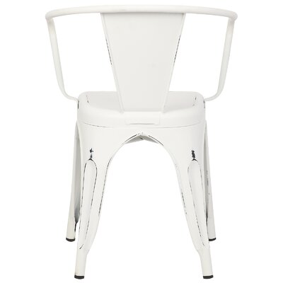 Alyssa Modern Arm Chair Color: Distressed White