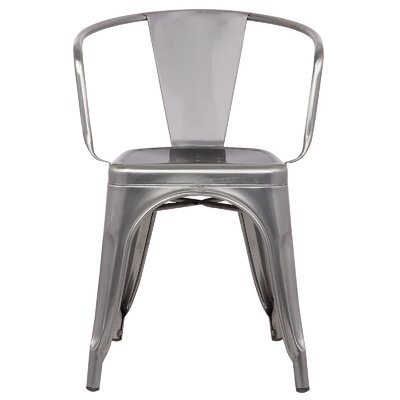 Trattoria Arm Chair Finish: Polished Gunmetal