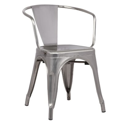 Trattoria Arm Chair Color: Polished Gunmetal