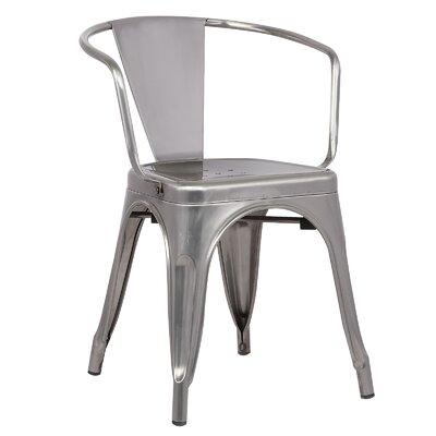 Trattoria Arm Chair Color: Polished Gunmetal