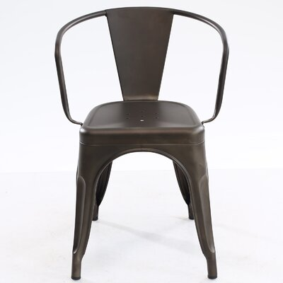 Trattoria Arm Chair Finish: Bronze