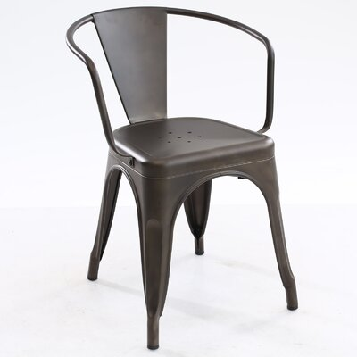 Trattoria Arm Chair Color: Bronze