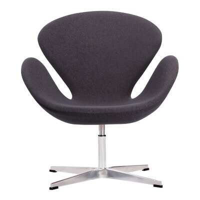 Crux Lounge Chair Color: Dark Gray
