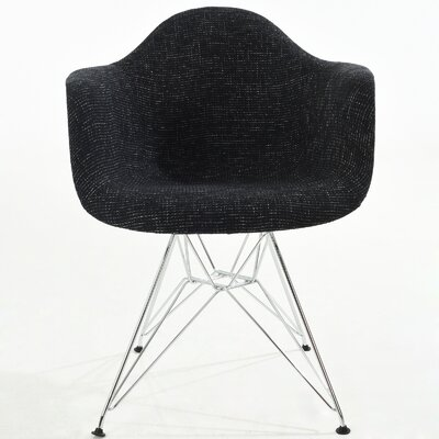 Padget Arm Chair Finish: Black