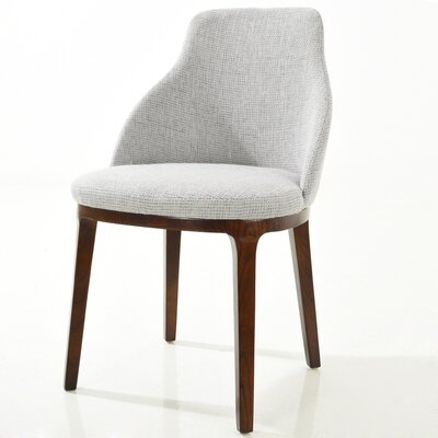 Caroline Upholstered Dining Chair Finish: Light Gray