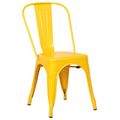 Trattoria Side Chair Finish: Yellow