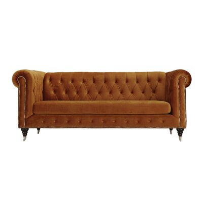 Liza Chesterfield Sofa Finish: Burnt Orange