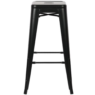 Trattoria 30 Bar Stool Finish: Black