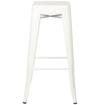 Alyssa Handmade 30 Bar Stool Finish: White