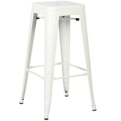Trattoria 30 Bar Stool Finish: White