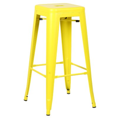 Trattoria 30 Bar Stool Finish: Yellow