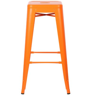 Alyssa Handmade 30 Bar Stool Finish: Orange