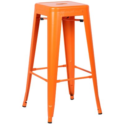 Trattoria 30 Bar Stool Finish: Orange