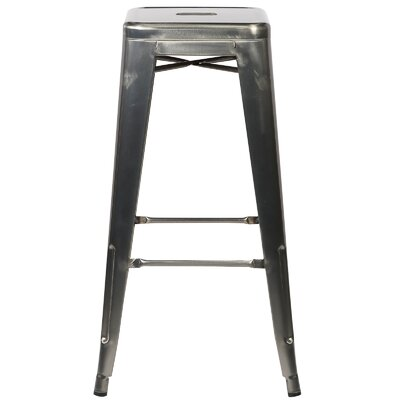 Alyssa Handmade 30 Bar Stool Finish: Polished Gunmetal