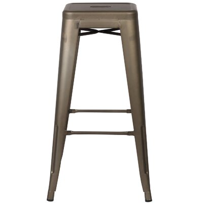 Trattoria 30 inch Bar Stool Finish: Bronze