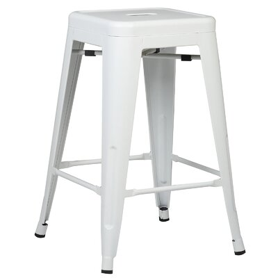 Alyssa Traditional 24 Bar Stool Finish: White