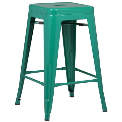 Alyssa Traditional 24 Bar Stool Finish: Dark Green