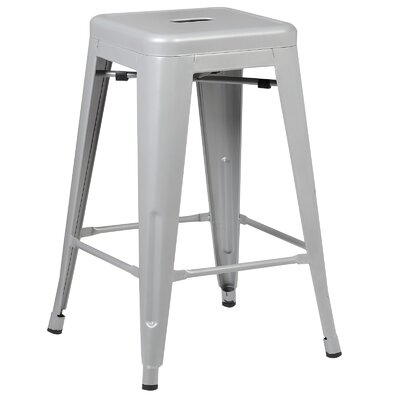 Alyssa Traditional 24 Bar Stool Finish: Gray