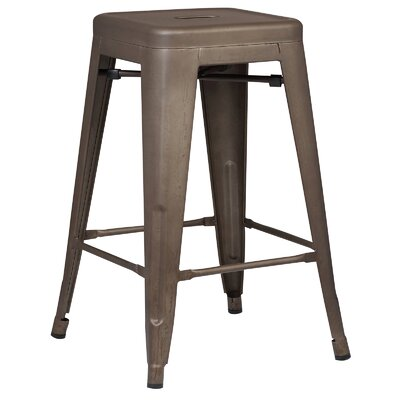 Alyssa Traditional 24 Bar Stool Finish: Bronze