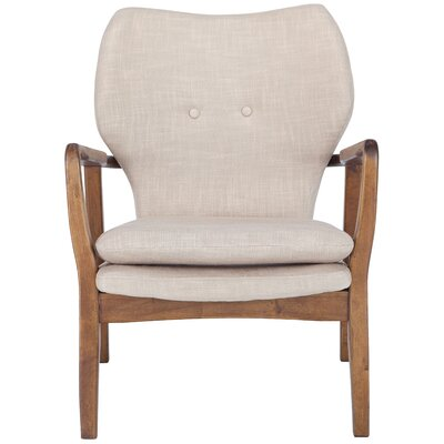 Alson Lounge Chair Upholstery: Beige