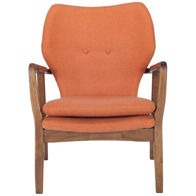 Alson Lounge Chair Upholstery: Orange