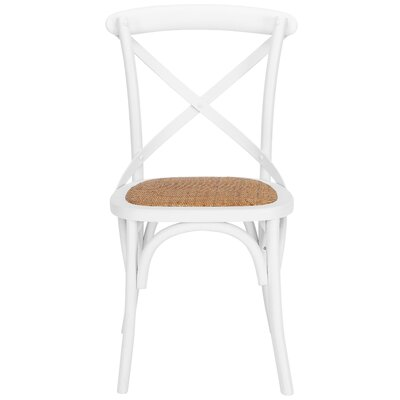 Hyacinthe Crossback Solid Wood Dining Chair Set Finish: White