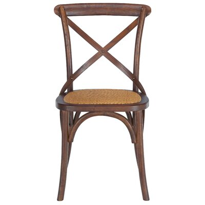 Parris Crossback Side Chair Set Finish: Hickory