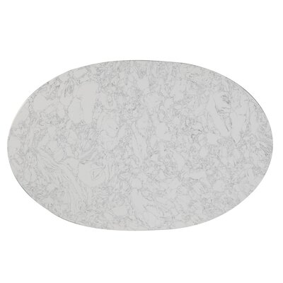 Gratz Oval Artificial Marble Dining Table