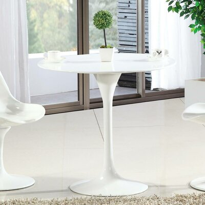 Croker Round Fiberglass Dining Table Size: 29 H x 30 W x 30 D