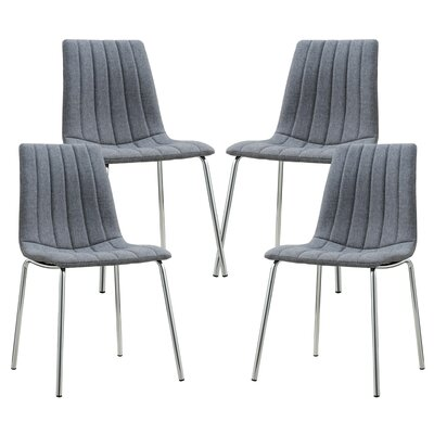 Barstow Upholstered Dining Chair Upholstery Color: Gray