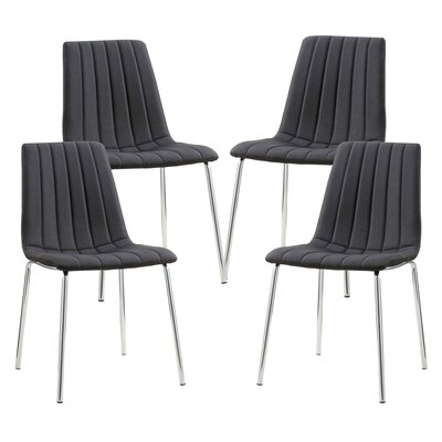 Barstow Upholstered Dining Chair Upholstery Color: Black