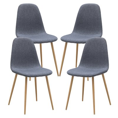 Capasso Upholstered Dining Chair Leg Color: Natural