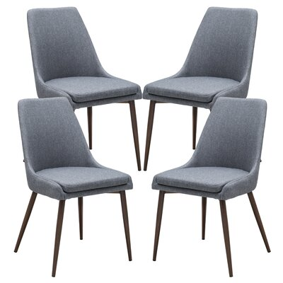 Taft Avenue Upholstered Dining Chair Upholstery Color: Gray