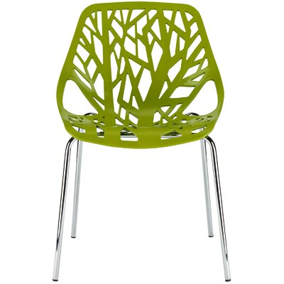Horsley Birds Nest Side Dining Chair Color: Green