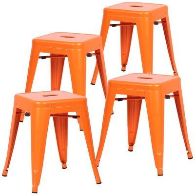 Alyssa 18 Bar Stool Color: Orange