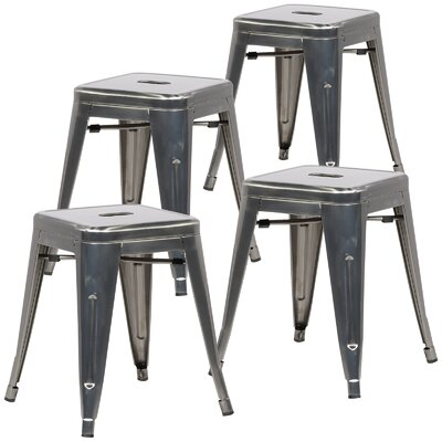 Alyssa 18 Bar Stool Color: Gunmetal
