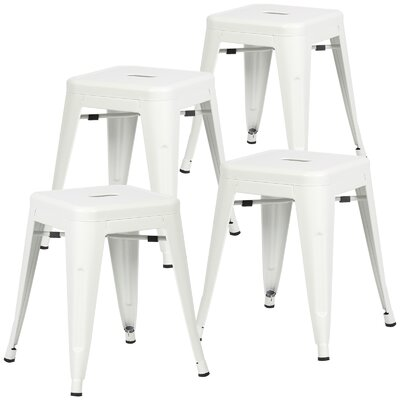 Alyssa 18 Bar Stool Color: White