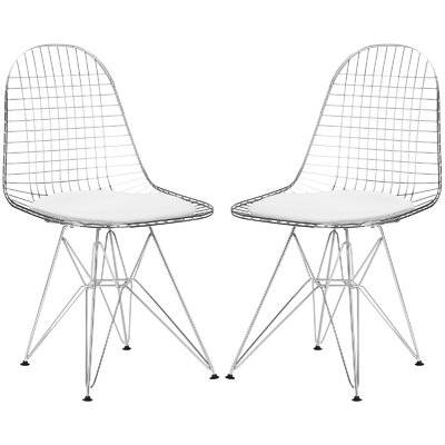 Hamlet Uphiolstered Dining Chair Upholstery: White