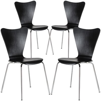 Elgin Dining Chair Finish: Black