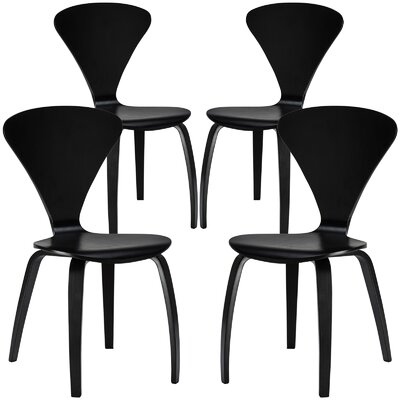 Sofia Solid Wood Dining Chair Finish: Black