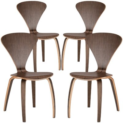 Sofia Solid Wood Dining Chair Finish: Walnut