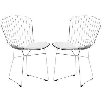 Morph Side Chair Upholstery: White