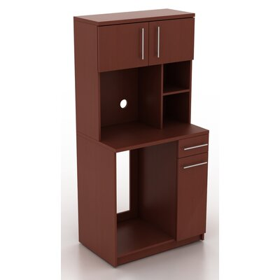 Modern Breakroom 76.25 H x 35.88 W Desk Hutch Finish: Crown Cherry