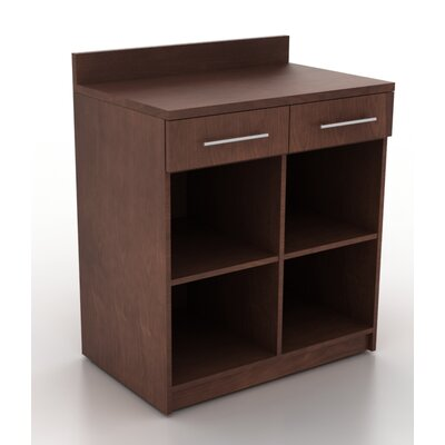 Modern Breakoom 39.63 H x 35.88 W Desk File Pedestal Finish: Kona Walnut