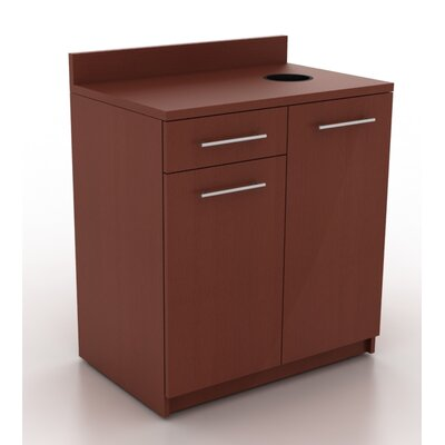 Modern Breakroom 39.63 H x 35.88 W Desk File Pedestal Finish: Kona Walnut