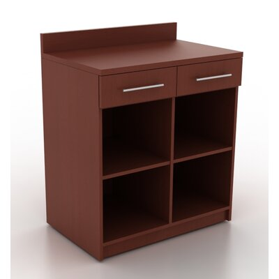 Modern Breakoom 39.63 H x 35.88 W Desk File Pedestal Finish: Crown Cherry